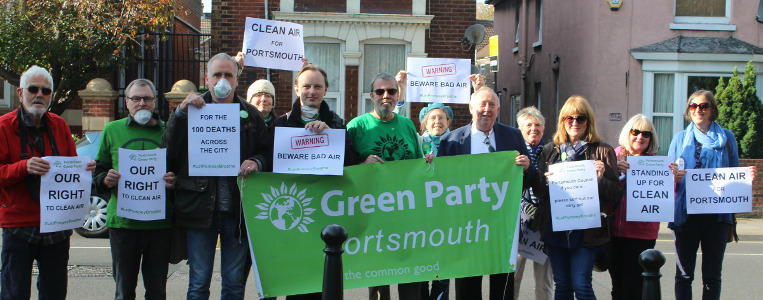 Portsmouth Greens protest against pollution
