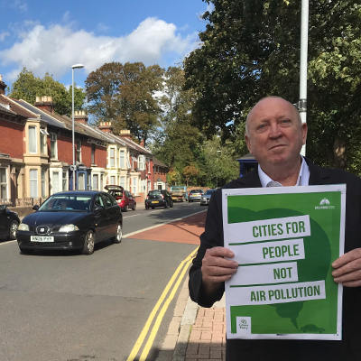 Keith MEP in Portsmouth Campaigning for Air Quality